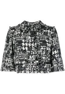 Dolce & Gabbana Jaqueta Cropped - Preto