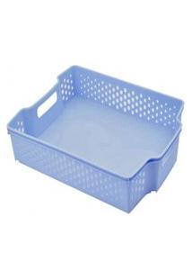 Cesta Empilhável Baixa - 5,6L - 36,5Cmx10Cm? - Container Blue