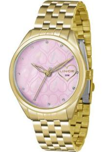 Relógio Feminino Lince Analógico Lrg4345L R1Kx - R - Unissex-Dourado