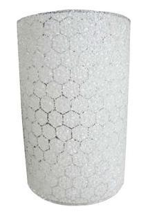 Arandela Colmeia 14X22Cm Para 1 Lâmpada E27 Branco Bronzearte