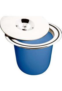 Lixeira De Embutir Para Granito Tramontina Com Tampa Clean Em Aço Inox E Plástico - 8 L