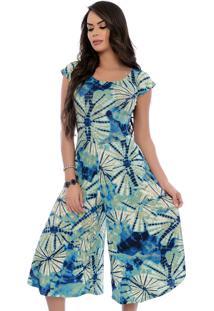 Macacão Ciganinha B Bonnie Pantacourt Layla Tie Dye Azul
