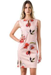 Vestido Bloom Tubo Estampado - Feminino-Rosa