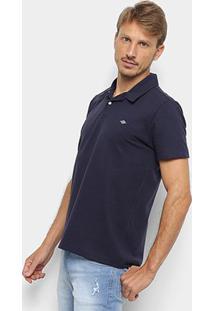 Camisa Polo Triton Básica Masculina - Masculino-Azul