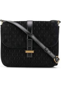 Saint Laurent Bolsa Transversal All Over Monogramada - Preto