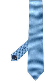 Salvatore Ferragamo Gravata Com Estampa De Coração - Azul