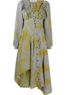 Ottolinger Gingham Asymmetric Dress - Preto