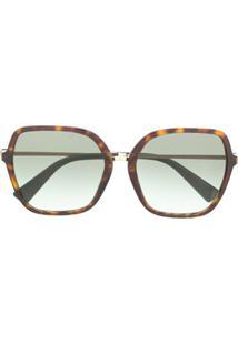 Valentino Eyewear Óculos De Sol Quadrado Va4077 - Preto
