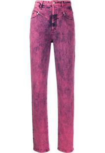 Stella Mccartney High-Waisted Bleached Effect Jeans - Rosa