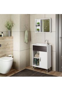 Conjunto De Banheiro Stm Moveis S16 Branco Scheffield Se