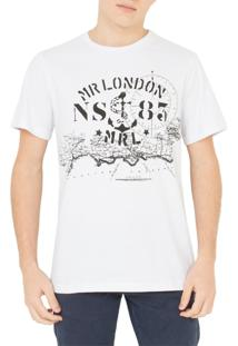 Camiseta Mr. London Nautica Branca