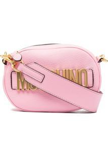 Moschino Bolsa Transversal Com Placa De Logo - Rosa