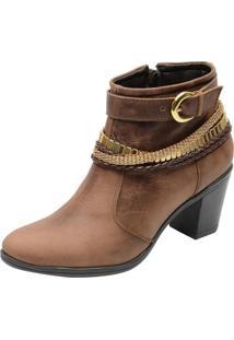 Bota Country Cano Curto Mr Shoes Em Couro Havana - Kanui