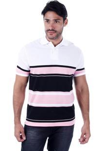Camisa Polo Masculina French Rock - Rosa