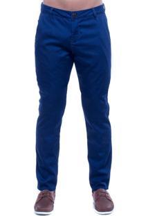 Calça Jeans Denuncia Alfaiataria Skinny Azul
