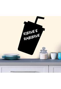 Adesivo De Parede Lousa Copo Refrigerante
