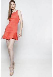 Vestido Com Babado - Coral- Moiselemoisele
