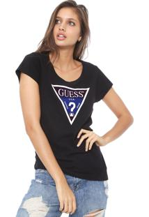 Camiseta Guess Degradê Preta