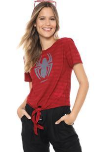 Blusa Cativa Marvel Spider Man Vermelha