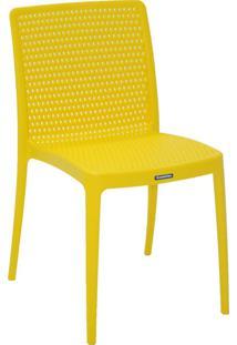 Cadeira Isabelle Pp E Fibra De Vidro Amarelo Tramontina