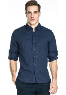 Camisa Base Jeans Maquinetada - Masculino