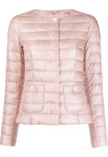 Herno Snap Fastening Padded Jacket - Rosa