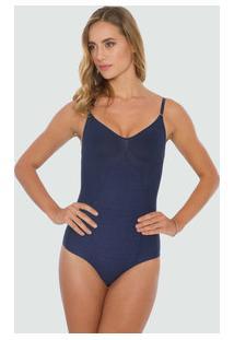 Body Feminino Modelador Skinny Shape Shine Plié