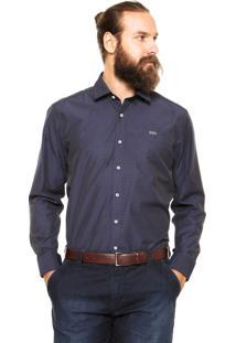 Camisa Mr. Kitsch Geométrica Azul-Marinho