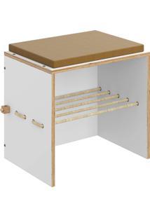 Banco Cordel C/ Futon Branco Tx Be Mobiliário