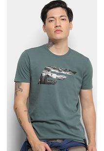 Camiseta Ellus Logo Masculina - Masculino-Verde Escuro