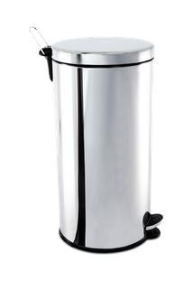 Lixeira Inox Com Pedal E Balde 30 Litros - Decorline Lixeiras Ø 30 X 64 Cm - Brinox