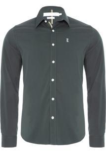 Camisa Masculina Strech Gorgurão - Verde