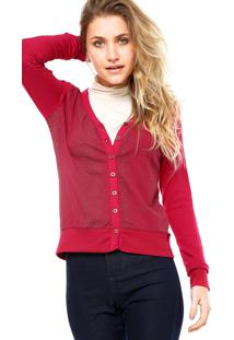 Cardigan Rovitex Textura Rosa