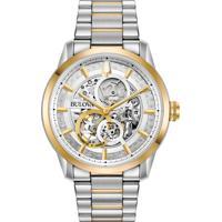 f939213112b Relógio Bulova Masculino Aço Prateado E Dourado - 98C124 Vivara