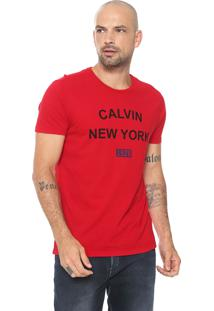 Camiseta Calvin Klein Jeans New York Vermelha