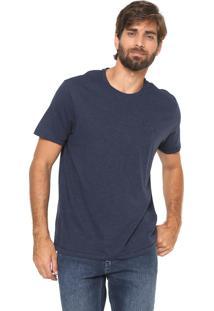 Camiseta Aleatory Reta Botone Azul-Marinho