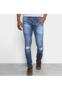 Calça Jeans Skinny Biotipo Rasgos Estonada Masculina - Masculino