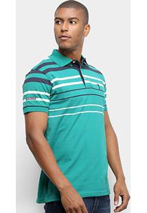 Camisa Polo Aleatory Fio Tinto Listras Masculina - Masculino