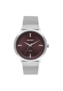 Relógio Orient Feminino Classic Analógico Prata Fbss0083-M1Sx