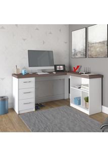 Mesa Escrivaninha Artany Mali Home Office 3 Gavetas