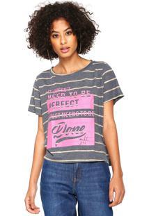 Camiseta My Favorite Thing(S) Listras Cinza