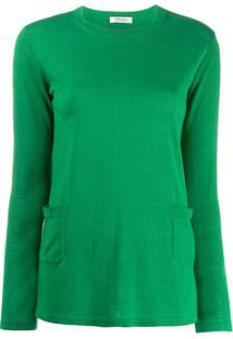 'S Max Mara Suéter Com Bolsos - Verde