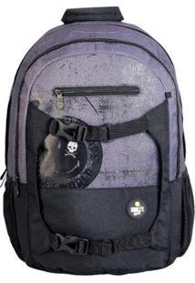 Mochila Gosuper Sport Moon Com Porta Notebook Escolar Universitaria Smiley - Masculino-Preto