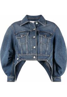 Alexander Mcqueen Jaqueta Jeans Com Mangas Bufantes - Azul