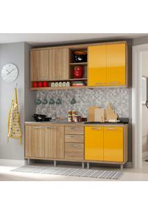 Cozinha Compacta 4 Peças 5818-S10 - Sicília - Multimóveis - Argila / Amarelo