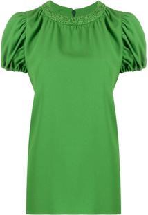 Kenzo Puff-Sleeve Blouse - Verde