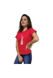 Camiseta Feminina Cellos New York Premium Vermelho