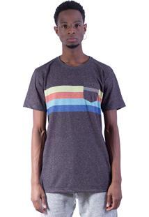 Camiseta Shivoo Comfort Rainbow Lifestyle Cinza Chumbo
