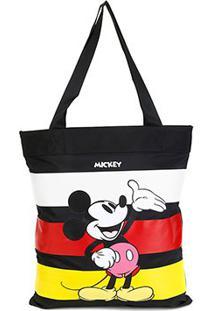 Bolsa Gash Shopper Mickey Listrada Feminina - Feminino-Amarelo