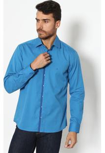 Camisa Slim Fit Lisa- Azulvip Reserva